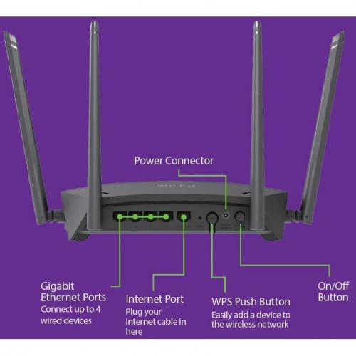 D Link DIR 1750 IEEE 802.11ac Ethernet Wireless Router Alternate-Image1/500
