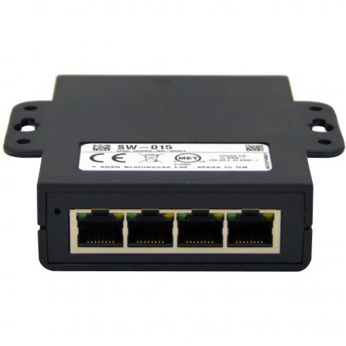 Brainboxes Compact 5 Port Gigabit Ethernet Switch DIN Rail Mountable Alternate-Image1/500