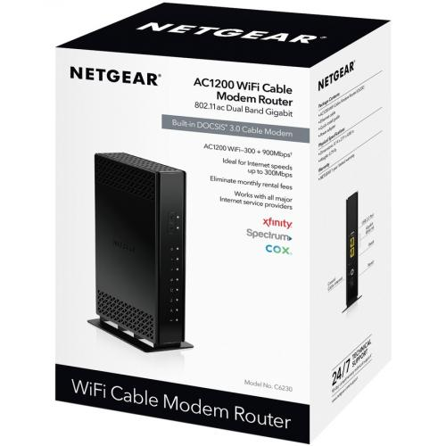 Netgear C6230 IEEE 802.11ac Cable Modem/Wireless Router Alternate-Image1/500