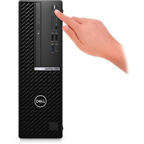 Dell OptiPlex 7000 7080 Desktop Computer   Intel Core I7 10th Gen I7 10700 Octa Core (8 Core) 2.90 GHz   8 GB RAM DDR4 SDRAM   256 GB SSD   Small Form Factor Alternate-Image1/500