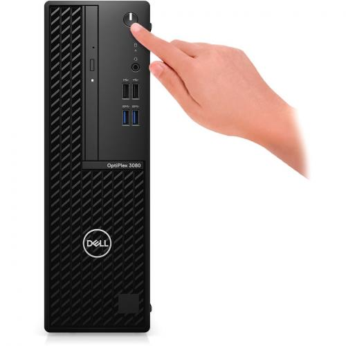 Dell OptiPlex 3000 3080 Desktop Computer   Intel Core I3 10th Gen I3 10100 Quad Core (4 Core) 3.60 GHz   8 GB RAM DDR4 SDRAM   128 GB SSD   Small Form Factor Alternate-Image1/500