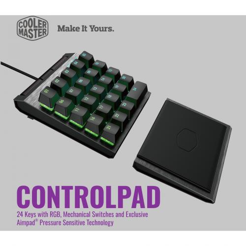 Cooler Master Control Pad (Gateron Red Switch) Alternate-Image1/500