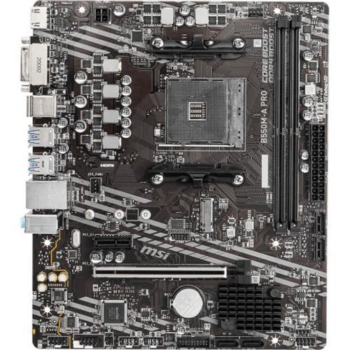 MSI B550M A PRO MATX Motherboard DVI, HDMI Alternate-Image1/500