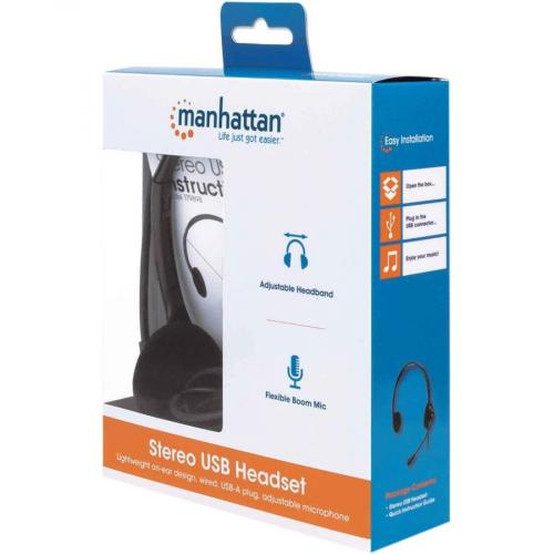 Manhattan Stereo USB Headset Alternate-Image1/500
