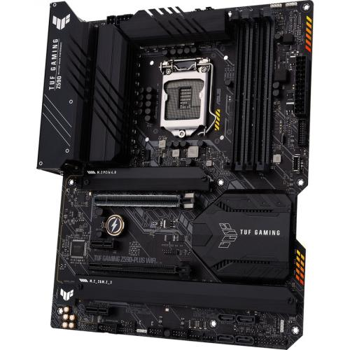 TUF GAMING Z590 PLUS WIFI Desktop Motherboard   Intel Chipset   Socket LGA 1200   Intel Optane Memory Ready   ATX Alternate-Image1/500