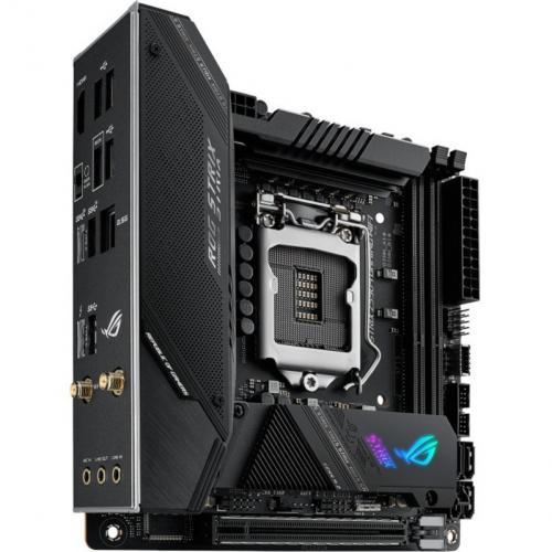 Asus ROG Strix Z590 I GAMING WIFI Desktop Motherboard   Intel Chipset   Socket LGA 1200   Intel Optane Memory Ready   Mini ITX Alternate-Image1/500
