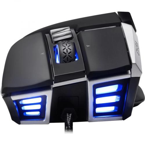EVGA X17 Wired Customizable Gaming Mouse   USB Cable Interface   16000 Dpi Movement Resolution   10 Total Buttons   5 Customizable On Board Profiles   50 Million Clicks Lifecycle Alternate-Image1/500