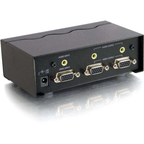 C2G 2 Port UXGA Monitor Splitter/Extender With 3.5mm Audio (Female Input) Alternate-Image1/500