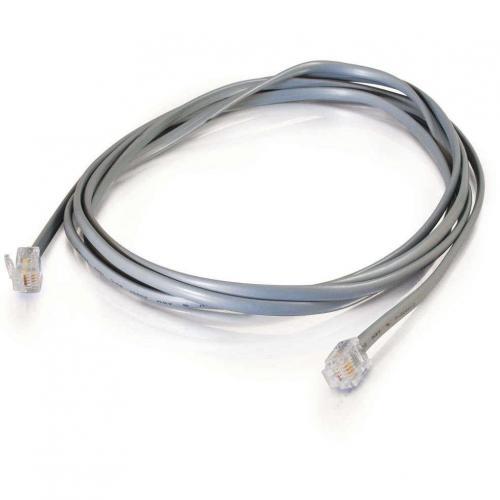 C2G 7ft RJ11 Modular Telephone Cable Alternate-Image1/500