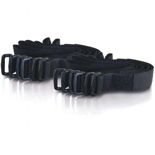 C2G 11in Hook And Loop Cable Management Straps   Black   12pk Alternate-Image1/500