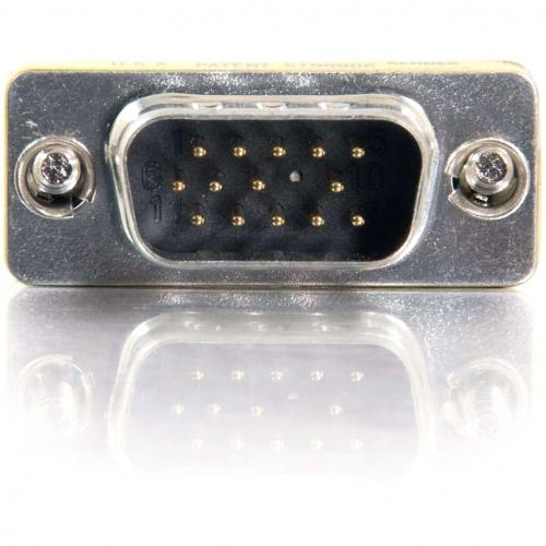 C2G HD15 VGA M/M Mini Gender Changer (Coupler) Alternate-Image1/500