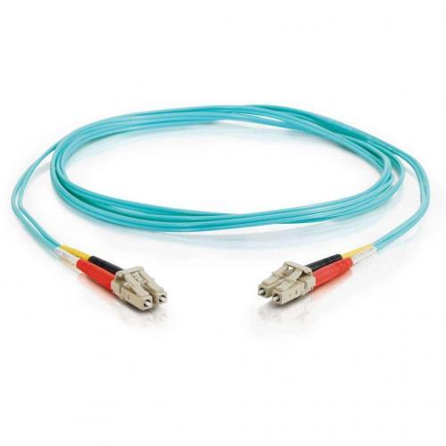 C2G 1m LC LC 10Gb 50/125 Duplex Multimode OM3 Fiber Cable  Aqua  3ft Alternate-Image1/500