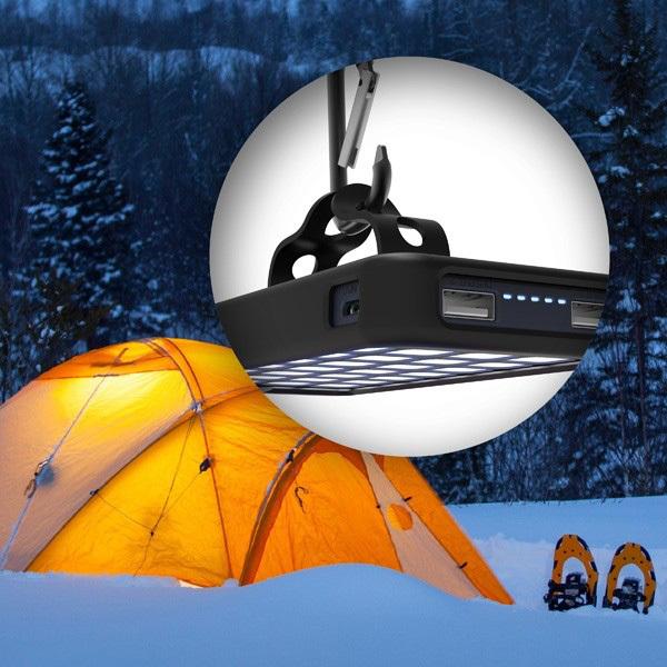 Aluratek 8,000mAh Dual USB 2.1A Power Bank With 32 LED Lantern Alternate-Image2