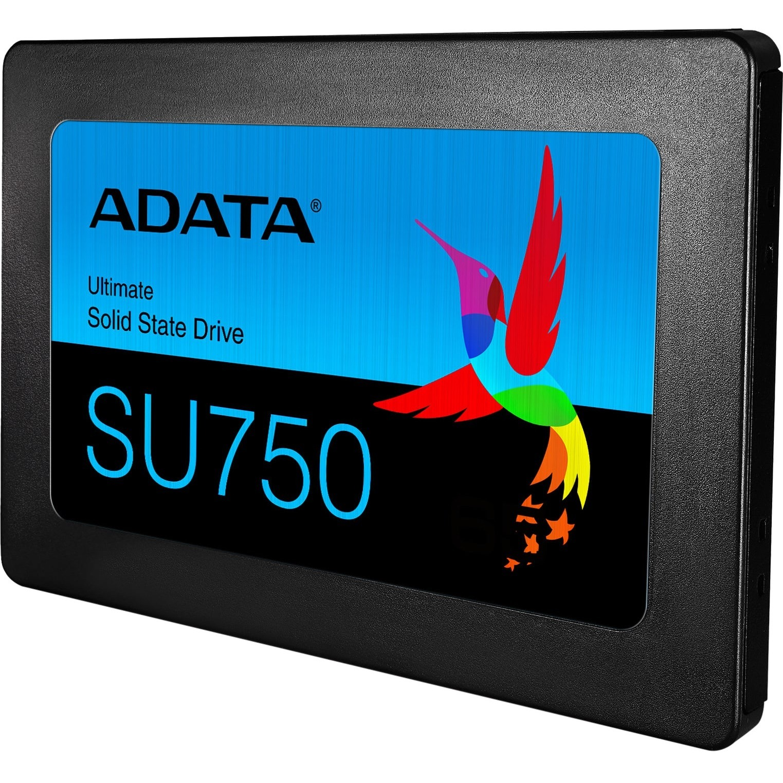 "Adata Ultimate SU750 ASU750SS 512GT C 512 GB Solid State Drive   2.5"" Internal   SATA (SATA/600)   Black Alternate-Image2"