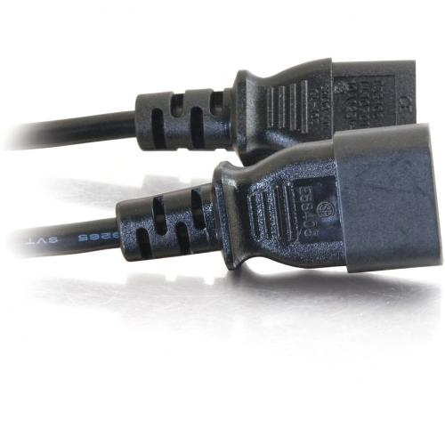 C2G 6ft Power Extension Cord   18 AWG   IEC320C14 To IEC320C13 Alternate-Image2/500