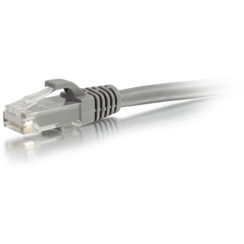 C2G 7ft Cat5e Snagless Unshielded (UTP) Network Patch Ethernet Cable   Gray Alternate-Image2/500