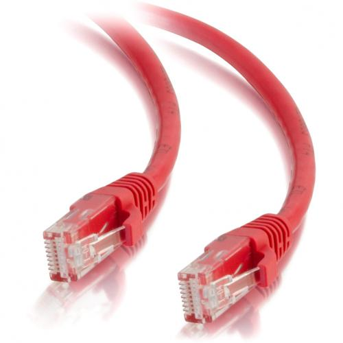 C2G 7ft Cat5e Snagless Unshielded (UTP) Network Patch Cable   Red Alternate-Image2/500