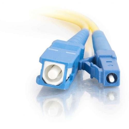 C2G 2m LC SC 9/125 OS1 Simplex Singlemode PVC Fiber Optic Cable   Yellow Alternate-Image2/500