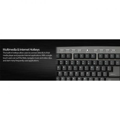 Adesso AKB 430UG Win Touch Pro Desktop Keyboard With Glidepoint Touchpad Alternate-Image2/500