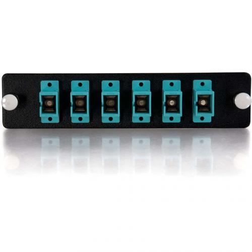C2G Q Series 6 Strand, SC, PB Insert, MM, Aqua SC Adapter Panel Alternate-Image2/500