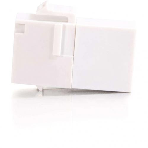 C2G RJ45 (8P8C) Coupler Keystone Insert Module   White Alternate-Image2/500