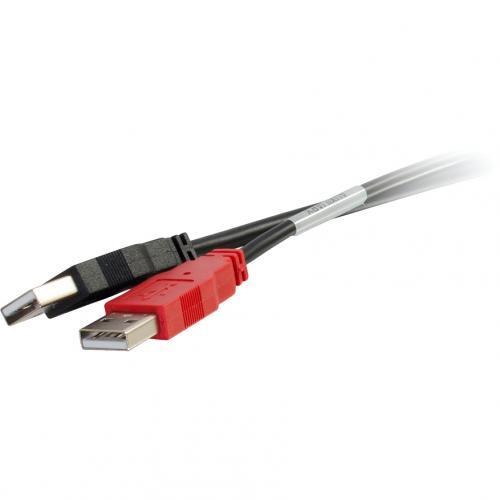 C2G 6ft USB 2.0 One B Male To Two A Male Y Cable Alternate-Image2/500