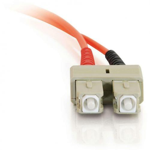 C2G 3m SC SC 62.5/125 OM1 Duplex Multimode PVC Fiber Optic Cable (USA Made)   Orange Alternate-Image2/500