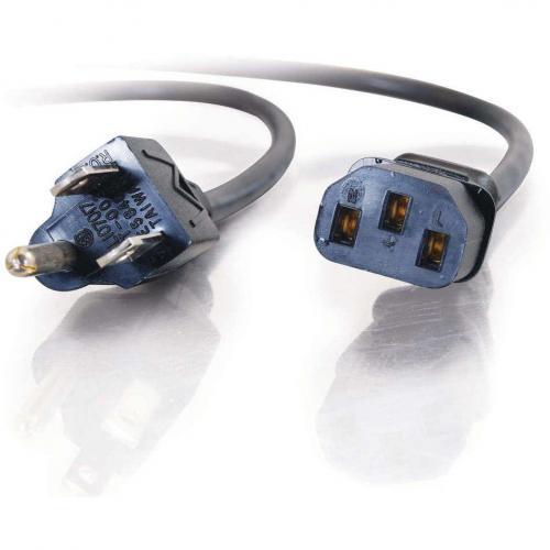 C2G 4ft Universal Power Cord   16 AWG   NEMA 5 15P To IEC320C13 Alternate-Image2/500