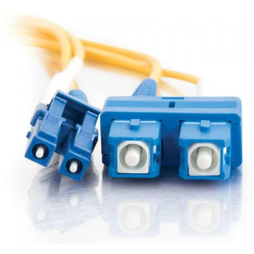 C2G 7m LC SC 9/125 Duplex Single Mode OS2 Fiber Cable   Yellow   23ft Alternate-Image2/500
