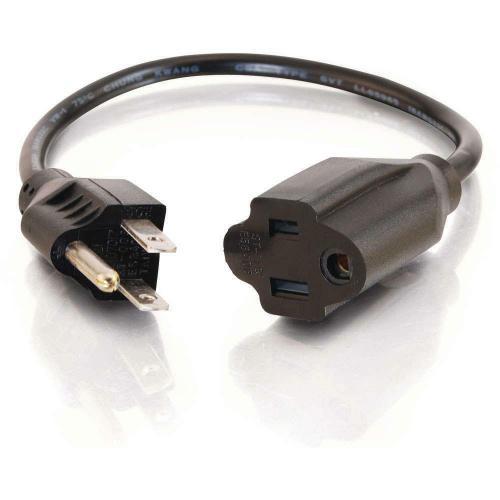 C2G 2ft 16 AWG Outlet Saver Power Extension Cord (NEMA 5 15P To NEMA 5 15R) Alternate-Image2/500