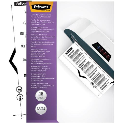 Fellowes Laminator Cleaning Sheets 10pk Alternate-Image2/500
