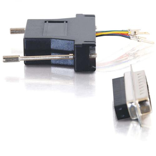 C2G RJ45 To DB25 Male Modular Adapter   Black Alternate-Image2/500