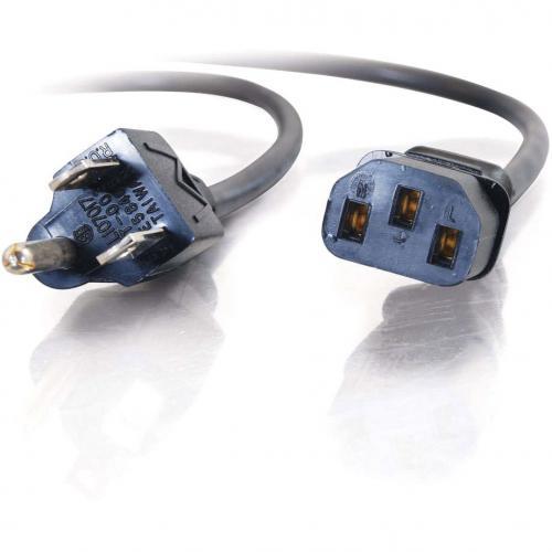 C2G 6ft 14 AWG Premium Universal Power Cord (NEMA 5 15P To IEC320C13) TAA Alternate-Image2/500
