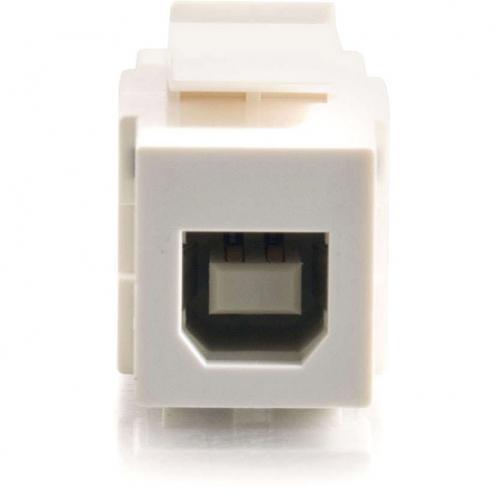 C2G Snap In USB A/B Female Keystone Insert Module   White Alternate-Image2/500