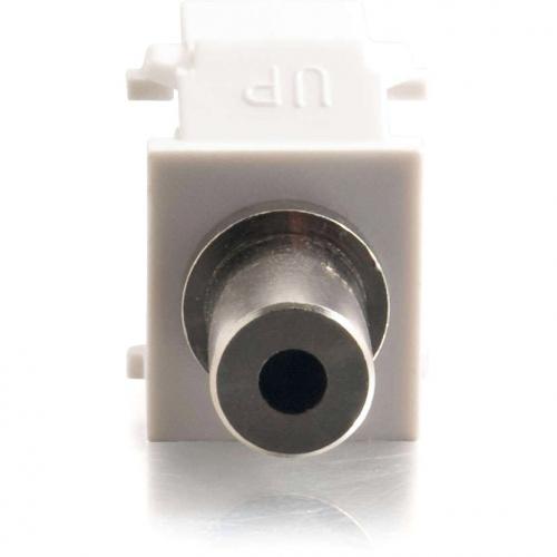 C2G Snap In 3.5mm Stereo F/F Keystone Insert Module   White Alternate-Image2/500