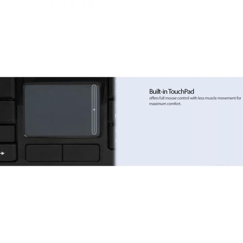 Adesso Wireless SlimTouch Desktop Touchpad Keyboard Alternate-Image2/500