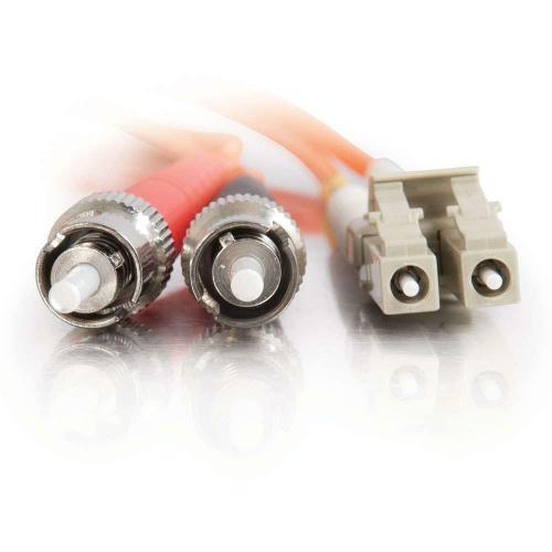 C2G 3m LC ST 62.5/125 OM1 Duplex Multimode Fiber Optic Cable (TAA Compliant)   Orange Alternate-Image2/500