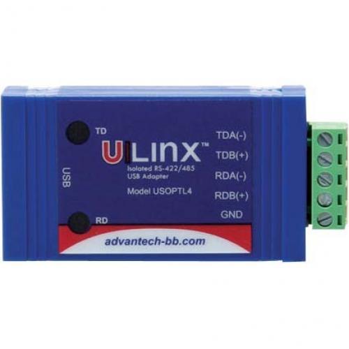USB To Isolated 422/485 W/Plug Terminal Block And LEDs   B+B SmartWorx Alternate-Image2/500