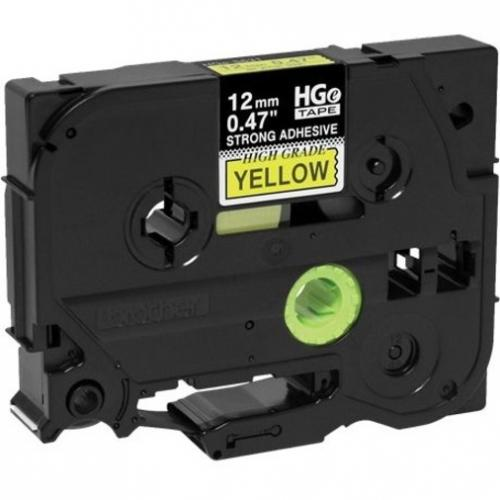 Brother HGES6315PK Black On Yellow Extra Strength Adhesive Label Tape Alternate-Image2/500