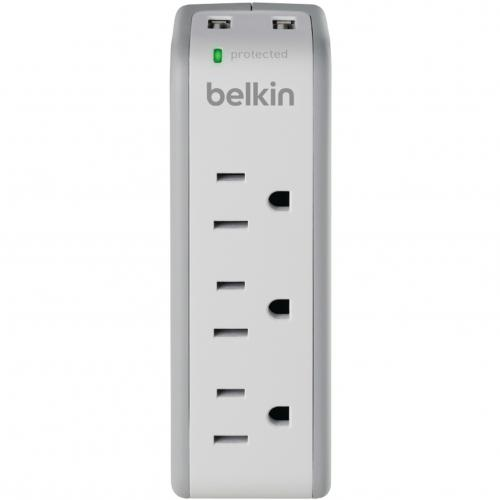 Belkin 3 Outlet Mini Surge Protector With USB Ports (2.1 AMP) Alternate-Image2/500