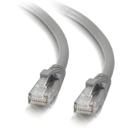 C2G 12ft Cat5e Snagless Unshielded (UTP) Network Patch Ethernet Cable Gray Alternate-Image2/500