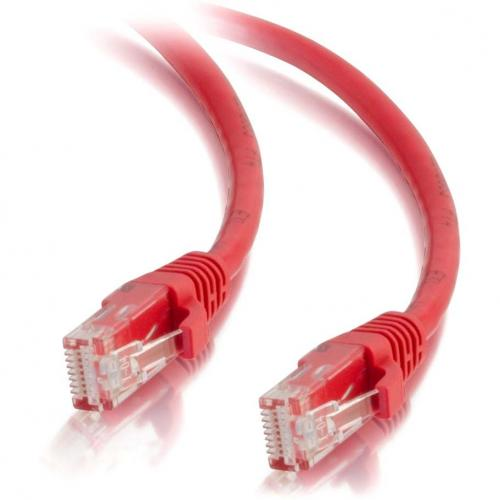 C2G 30ft Cat5e Snagless Unshielded (UTP) Network Patch Cable   Red Alternate-Image2/500