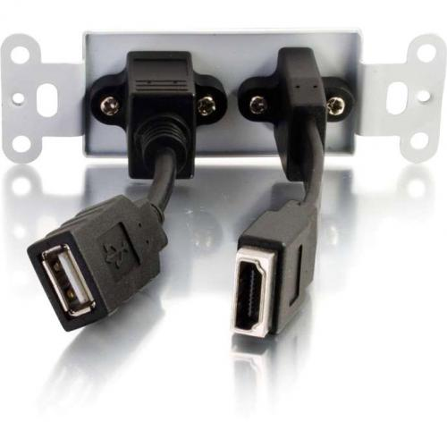 C2G HDMI And USB Pass Through Wall Plate Alternate-Image2/500