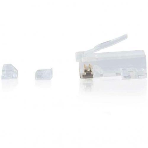 C2G RJ45 Cat6 Modular Plug For Round Solid/Stranded Cable   25pk Alternate-Image2/500