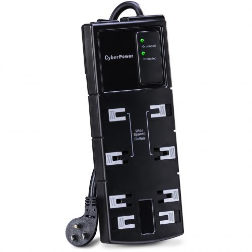 CyberPower CSB808 Essential 8 Outlets Surge Suppressor 8FT Cord   Plain Brown Boxes Alternate-Image2/500