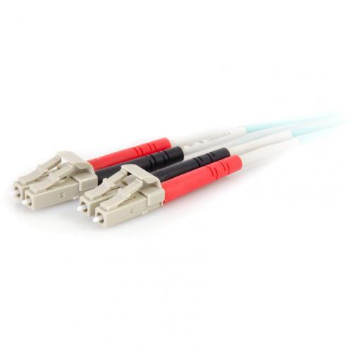 C2G 2m LC LC 50/125 Duplex Multimode OM4 Fiber Cable   Aqua   6ft Alternate-Image2/500