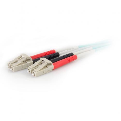 C2G 5m LC LC 50/125 Duplex Multimode OM4 Fiber Cable   Aqua   16ft Alternate-Image2/500