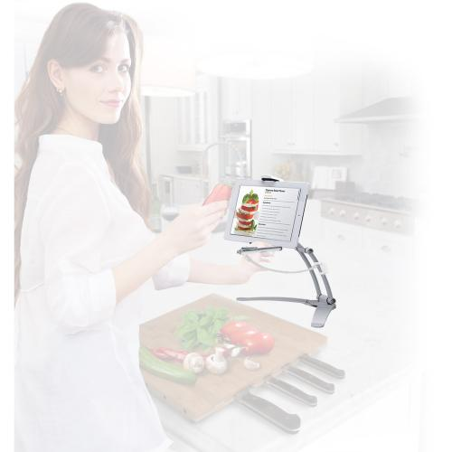 CTA Digital PAD KMS 2 In 1 Kitchen Mount Stand For IPad And Tablets Alternate-Image2/500