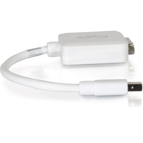 C2G 8in Mini DisplayPort To DVI Adapter Single Link DVI D Thunderbolt To DVI Converter M/F White Alternate-Image2/500
