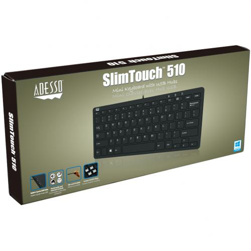 Adesso SlimTouch 510   Mini Keyboard With USB Hubs Alternate-Image2/500